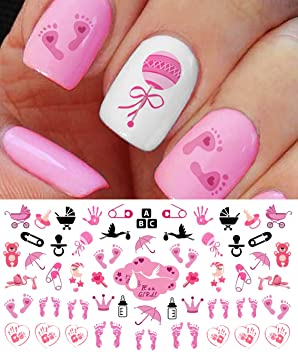 Its a girl nail art decals footprints strollers more great its a girl nail art decals footprints strollers more great baby prinsesfo Images