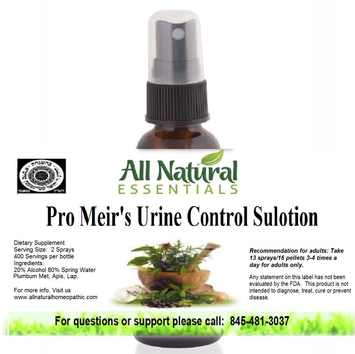 Amazon.com: Pro Meir's Urine Control Sulotion 1oz Homeopathic Remedy,  Bedwetting, Overactive Bladder Control, Stops Frequent Urination, ...