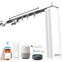 Quoya QL5000- Smart WIFI Automated Electric Curtain Tracks & Rail motor with App, Voice, and Remote Control 【Pre…