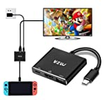HDMI Type C Hub Adapter for Nintendo Switch,VZUJ USB C Multiport To HDMI Adapter with 4K UHD HDMI,USB A 3.0 and Fast...