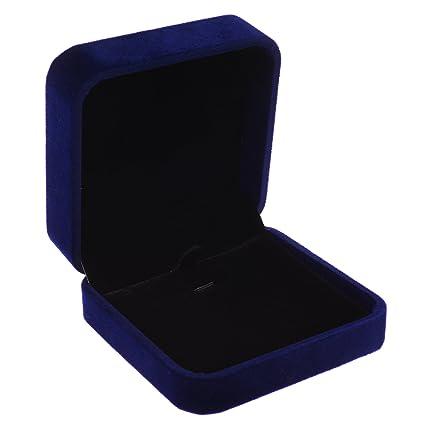 Cosmos Royal Dark Deep Blue Color Velvet Necklace Pendant Gift Box Jewelry Box