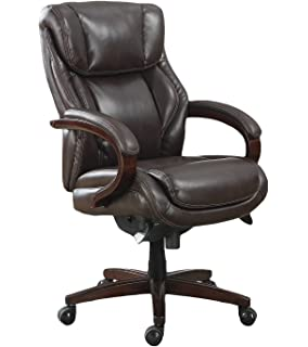 Incroyable La Z Boy Bellamy Executive Bonded Leather Office Chair   Coffee (Brown)