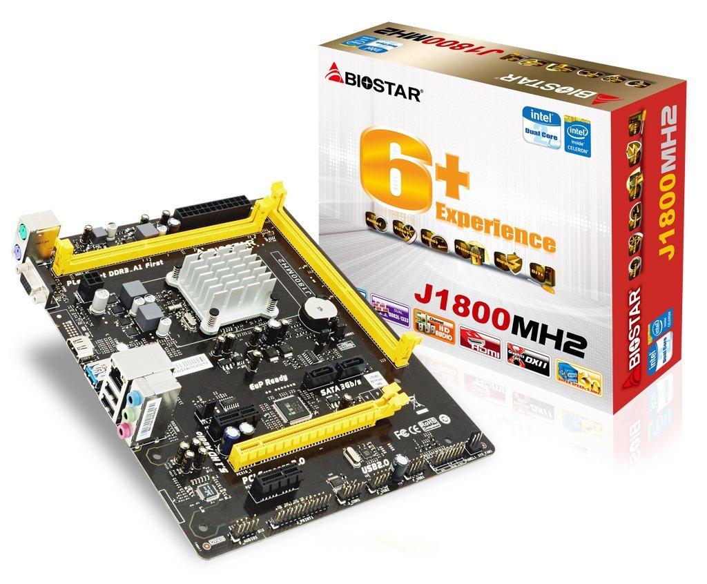 Biostar J1800MH2 Ver. 6.x BGA 1170 Micro ATX - Placa Base (DDR3-SDRAM,DDR3L-RS-SDRAM, DIMM, 1333 MHz, Dual, 16 GB, Intel): Amazon.es: Informática
