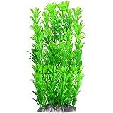 Fish Tank Artificial Plants Aquarium Decoration 10 Inch, Green