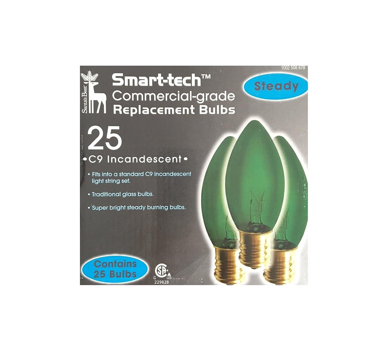 Smart-tech Commercial-grade C9 Incandescent Bulbs - 25 Count, Blue - - Amazon.com