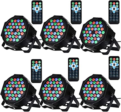 9 Modes LED Up Lights for Wedding Event Party Festival DJ Lights Missyee 36 X 1W RGB LEDs DJ LED Uplighting Package Sound Activated Stage Par Lights with Remote Control Compatible with DMX 8 Pack