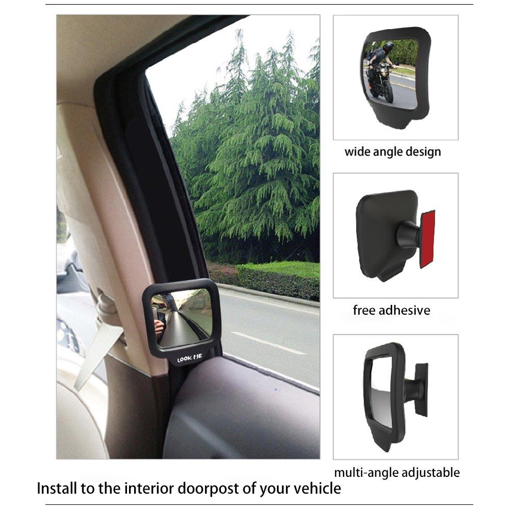 Car Baby Mirror Interior Rearview Mirror Blind Spot Backseat Rear Seat Mirror 270/° Adjustable Lens Pack of 2