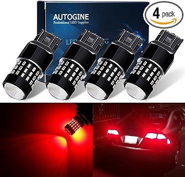 4x LASFIT 7443 7444 Amber Color LED Turn Signal Tail Light Reverse Brake Bulb