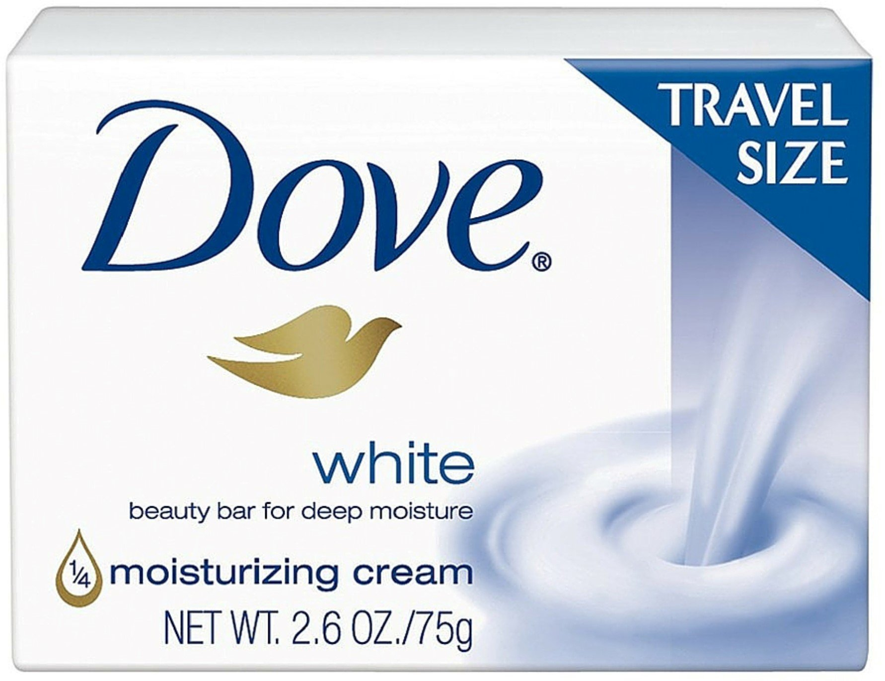 Dove White Travel Size Bar Soap With Moisturizing Cream 2.6 oz (Pack of 12)