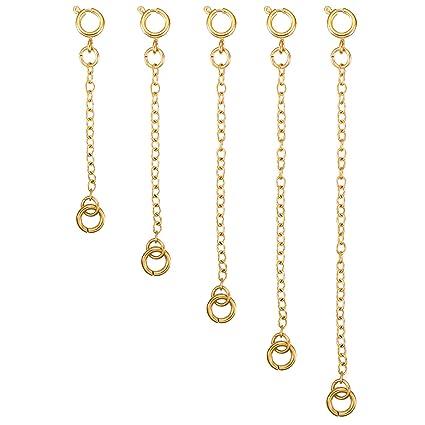 15d7e7c0e185 5 Piezas Extensor de Collar Set de Cadena de Extensión de Pulsera para  Manualidades de Collar