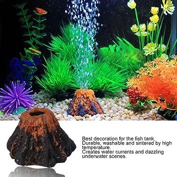 Hemore - Figura Decorativa para Acuario con Forma de volcán y Piedras de Burbujas: Amazon.es: Productos para mascotas
