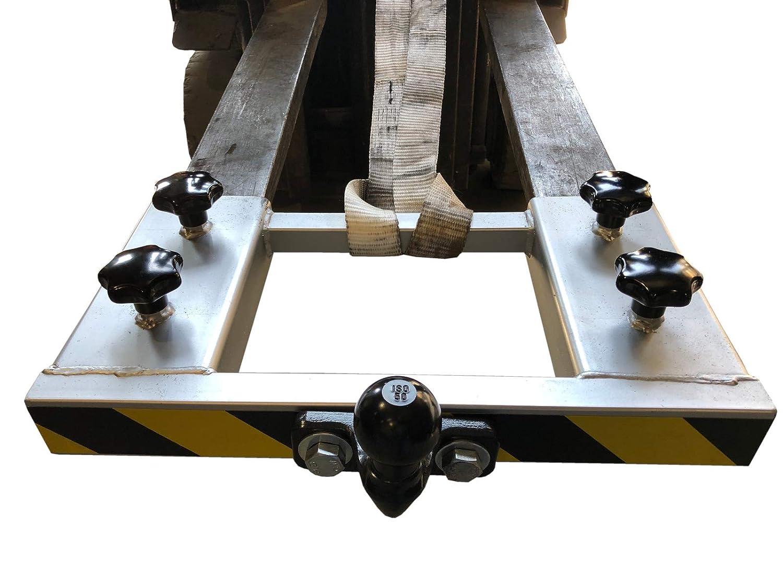 Gabelstapler Rangierhilfe Silber Doppel-Gabel Anh/änger Kugelkopf Anh/ängerkupplung