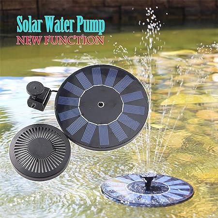 AIMCAE Fuente Solar Piscina de Estanque de jardín con Bomba de Fuente Solar Flotante Panel de Agua con Aves: Amazon.es: Hogar