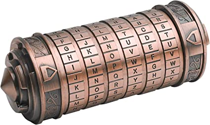 1x   Alloy Cryptex Romantic Letter Escape Password Educational Toys