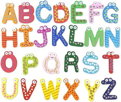 istary Madera magnético letras juguete para niños dibujos animados ...