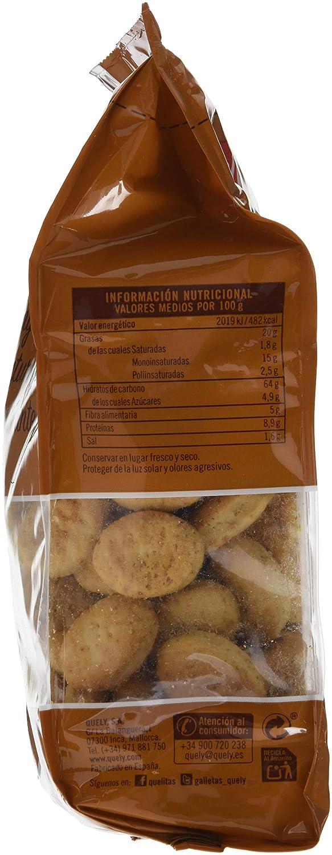 Quely, Crackers salado de agua (Quelitas integral) - 7 de 400 gr. (Total 2800 gr.): Amazon.es: Alimentación y bebidas