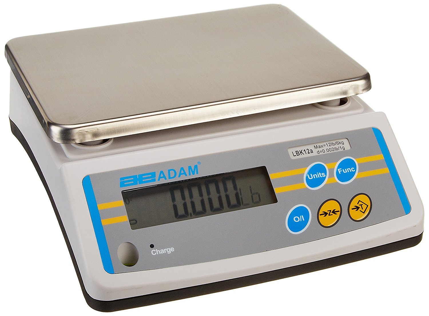 Adam Equipment LBK 12a LBK Weighing Scales, 12lb/6000g Capacity, 0.002lb/1g Readability