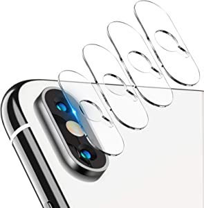 Tensea Back Camera Lens Protector Apple iPhone Xs Max/Xs/X Tempered Glass Film Screen Protector, Anti-Scratch, Anti-Fingerprint, Ultra Thin, High Definition, 4 Pack