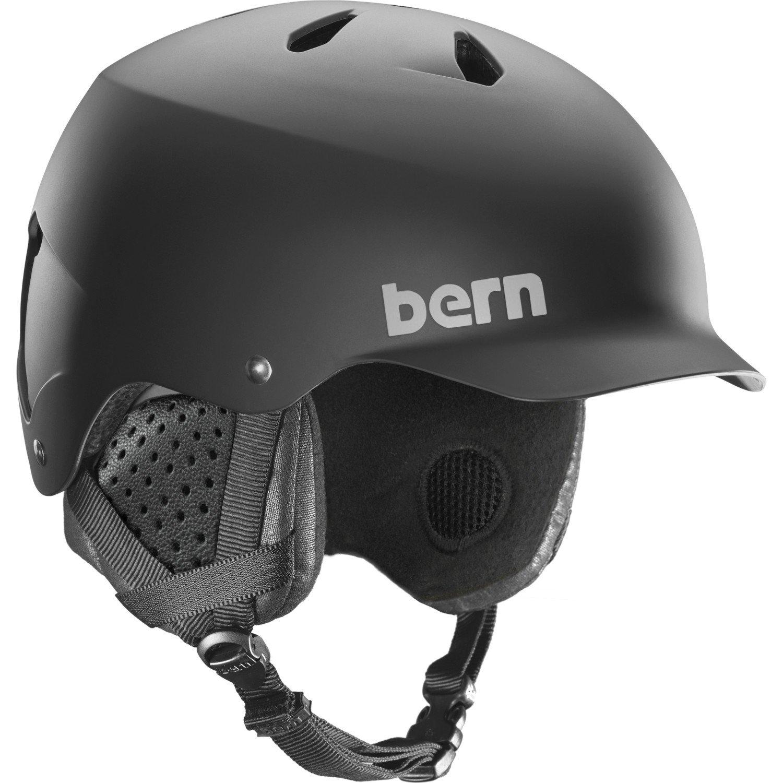 Bern Watts MIPS Helmet (Matte Black MIPS with Black Liner, Medium) by BERN