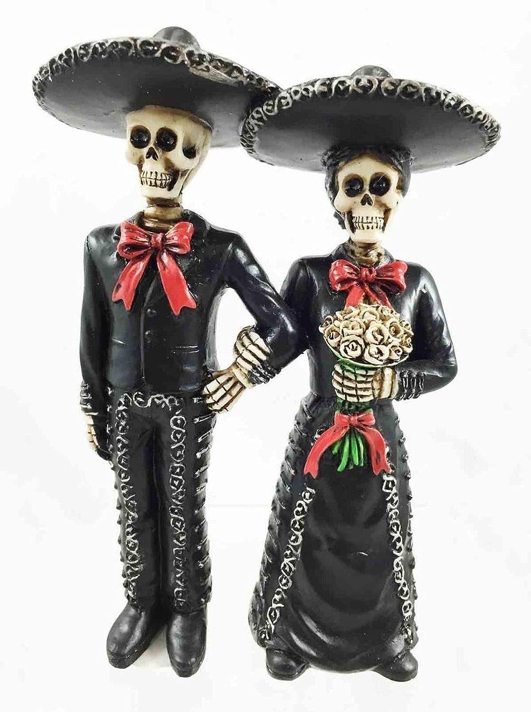 【最安値に挑戦】 人形 死者の日 DOD DOD Mariachi Bride and Groom スカル スケルトン スカル Bride コレクション B07KTHRXMG, felice vita:b222f91c --- arianechie.dominiotemporario.com