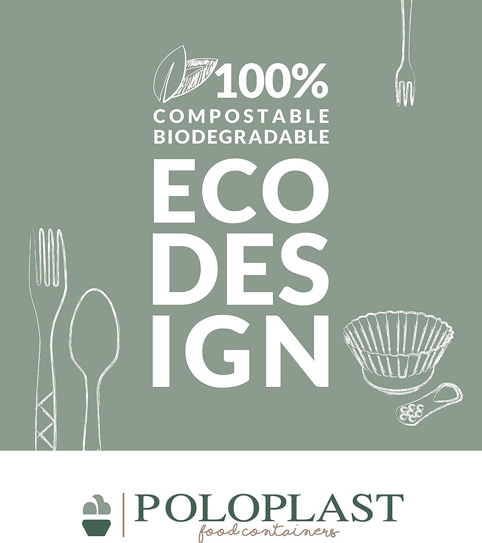 50 Mini Postre Mozart PLA Transparente compostable Biodegradable ...