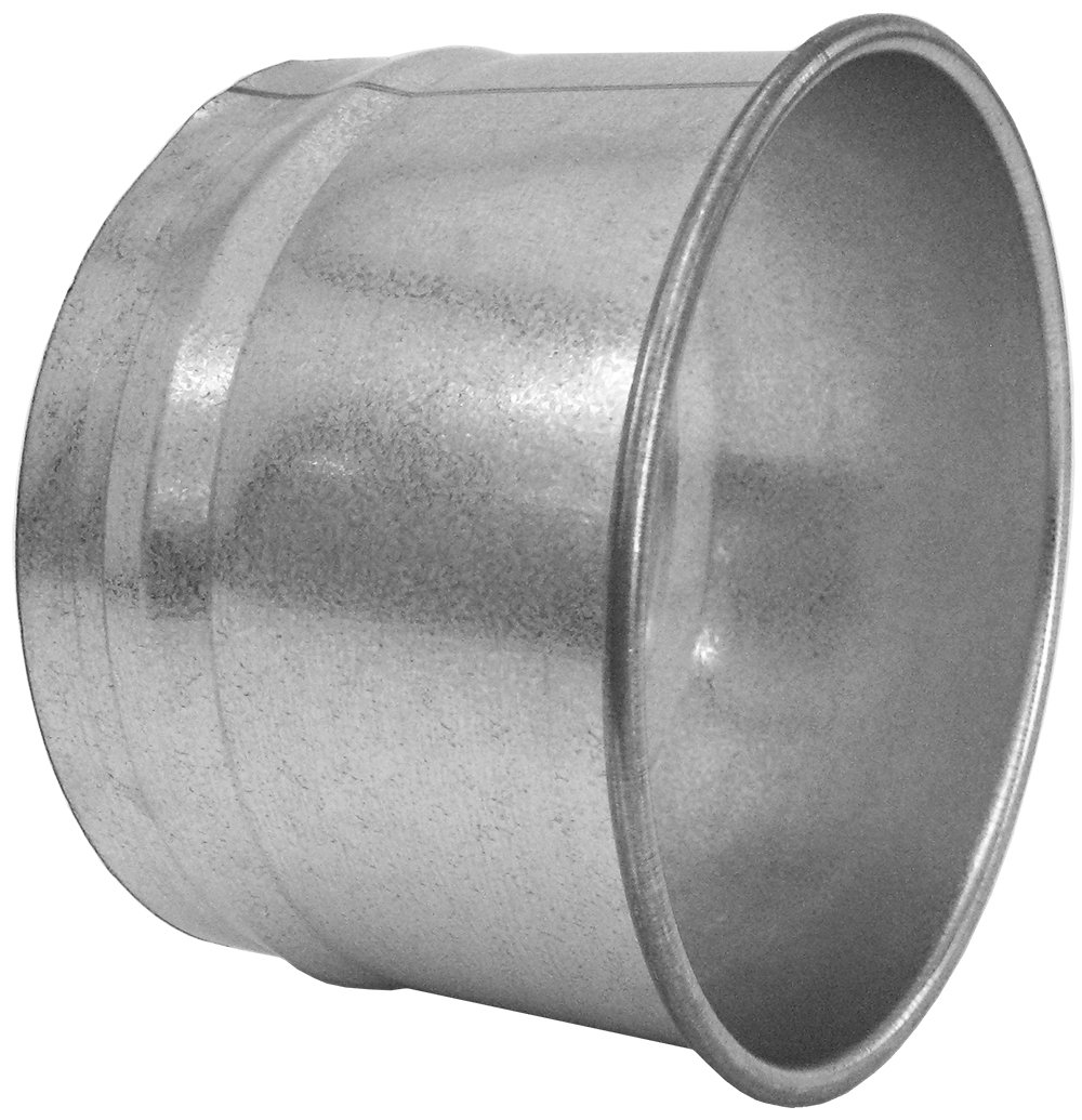 Nordfab 3282-0800-100000 Ducting Qf Hose Adapter, 8'' Dia, Galvanized Steel by Nordfab (Image #1)