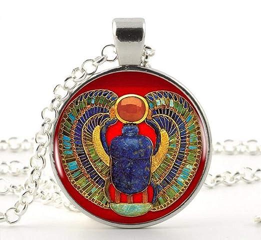 Collar o llavero egipcio de Scarab, joyería egipcia antigua ...