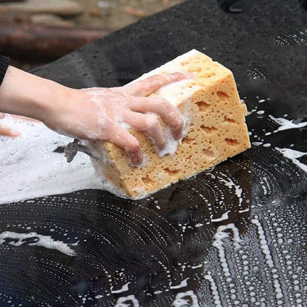 Beige car wash Sponge