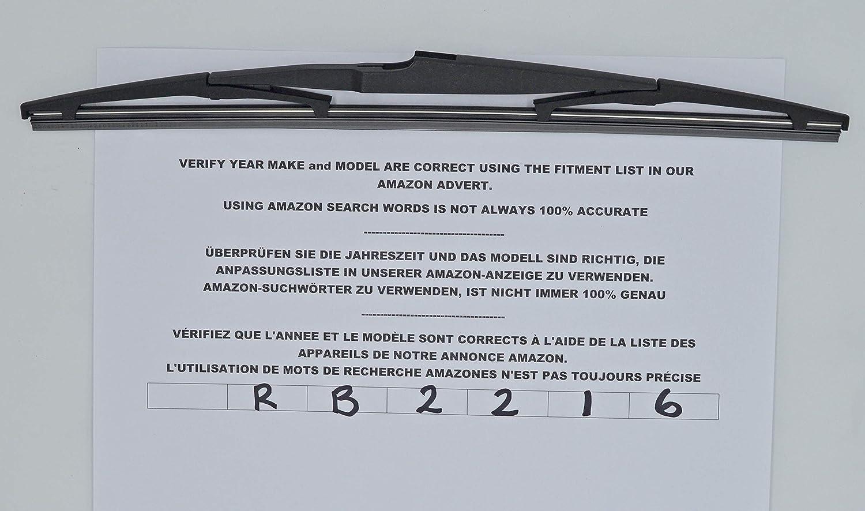 Zafira Tourer MK3 2011-2016 Bosch Front Wiper Blades With XtremeAuto Rear Screen Blade