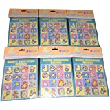 Baby Shower Bingo- Pack of 6 - 48 Total Cards - Colorful Pictures on Each Card for Party Fun!