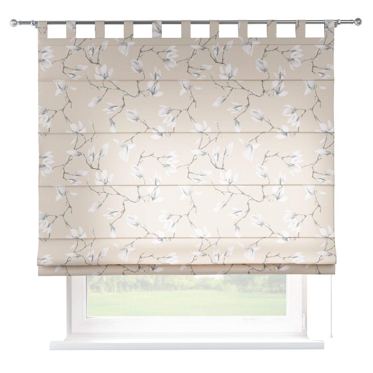 Dekoria Raffrollo Verona ohne Bohren Blickdicht Faltvorhang Raffgardine Wohnzimmer Schlafzimmer Kinderzimmer 160 × 170 cm grau- beige Raffrollos auf Maß maßanfertigung möglich