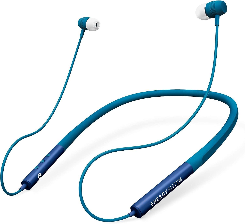 Energy Sistem Earphones Neckband 3 Bluetooth Blue (Auriculares inalambricos, Neckband, intrauditivo, con unión magnética, batería Recargable): Energy-Sistem: Amazon.es: Electrónica