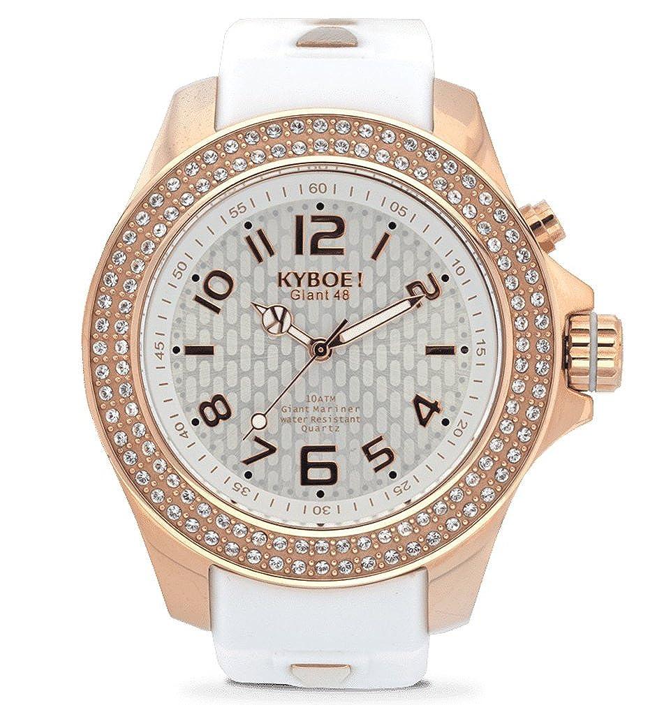 Kyboe. Reloj Analógico para Mujer Quartz goma blanco SW de 003 - 40: Amazon.es: Relojes