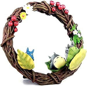 Studio Ghibli via Bluefin Benelic My Neighbor Totoro Hide-and-Seek Wreath Mirror - Official Studio Ghibli Merchandise, Multi, Small (4990593201488)