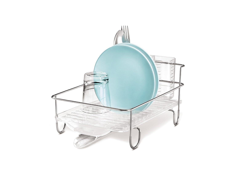 Amazon  Simplehuman Mini Wire Frame Dishrack, Stainless Steel  Dish  Racks