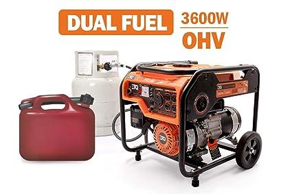 Amazon.com: Etq TG32P31DF 3600W Generador de combustible ...