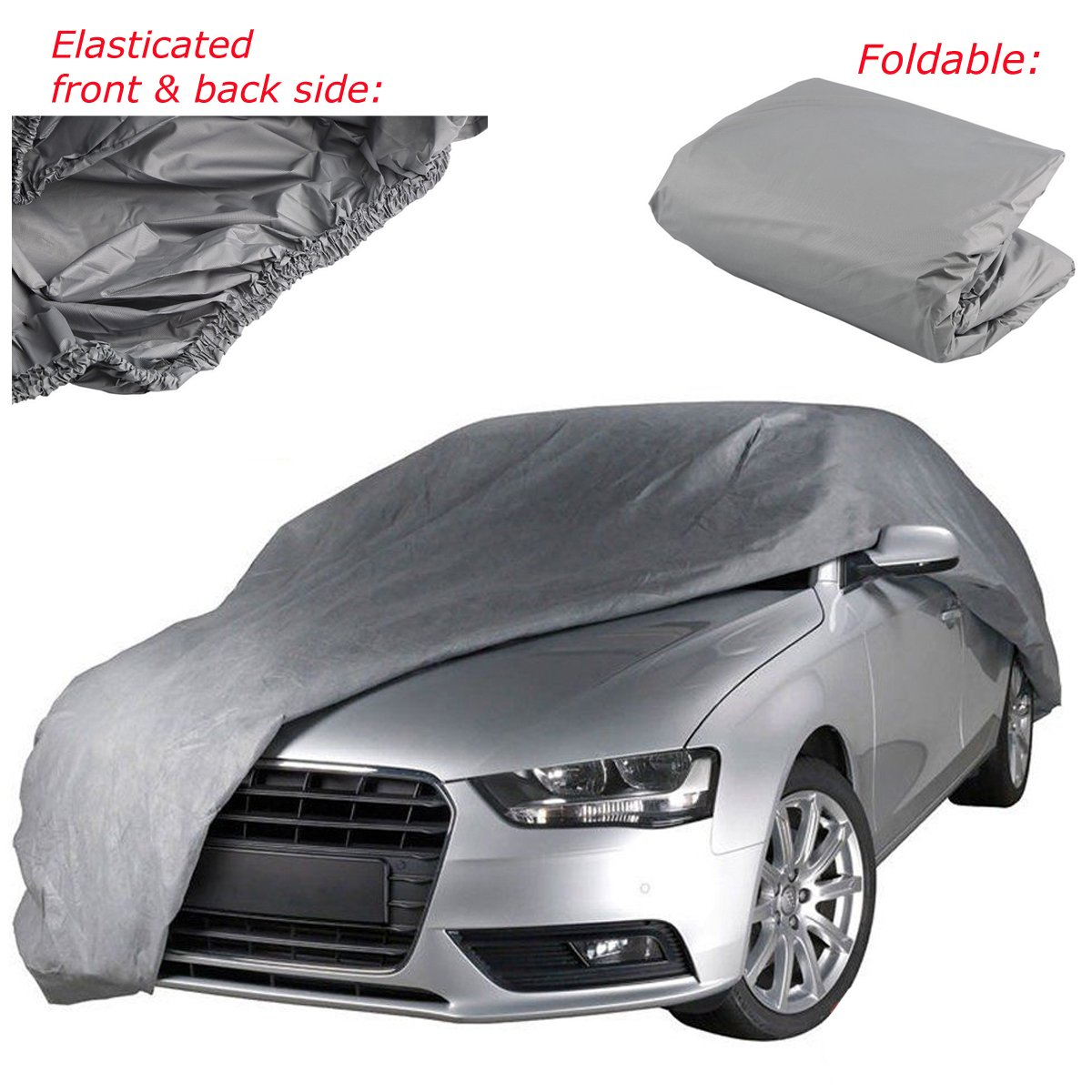NEW PEVA FULL CAR COVER PROTECTOR ELASTICATED LARGE UNIVERSAL WITH CARRY BAG