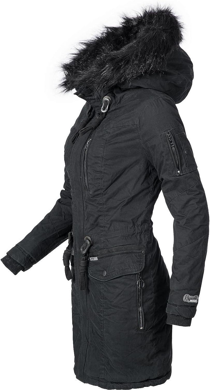 Khujo Mujer Abrigo de invierno algodón Parka ym-anastina 5 Colores XS-XXL