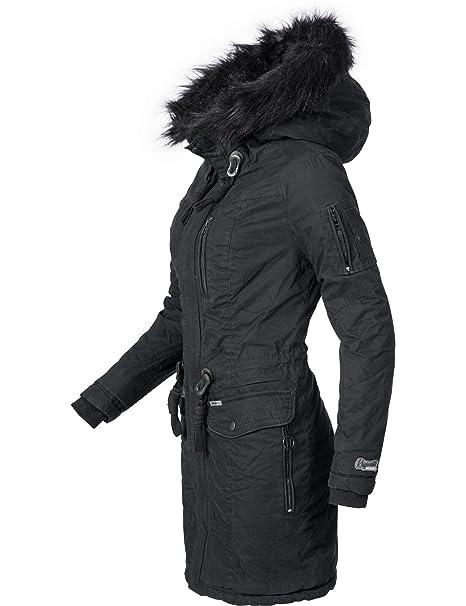 khujo Damen Winter Mantel Baumwoll Parka YM Anastina 5 Farben XS XXL