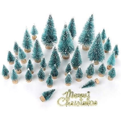 LouisaYork - Árbol de Navidad en Miniatura, árbol de Navidad, 34 Piezas, Mini