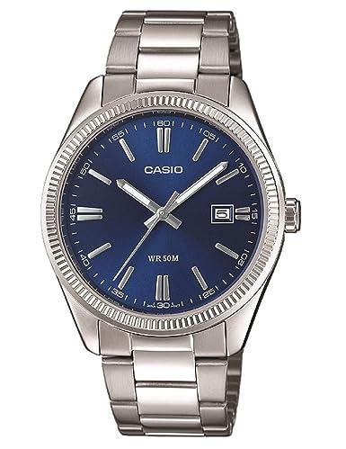 Casio Reloj Analógico para Hombre de Cuarzo con Correa en Acero Inoxidable MTP-1302PD-2AVEF: Amazon.es: Relojes
