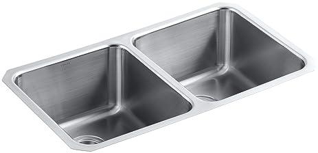 kohler k3171hcfna undertone preserve undermount doubleequal bowl kitchen