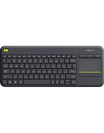 ca3cdbb16ab Logitech K400 Plus Wireless Touch TV Keyboard with Easy Media Control and  Built-In Touchpad