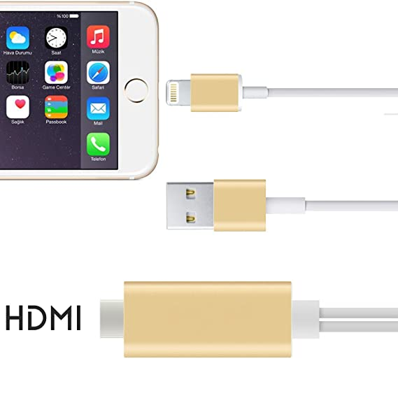 sneakers for cheap 8596e bccd8 Amazon.com: HDMI Cable, 6.4Ft MHL To HDMI Cable 1080P HDTV Adapter ...