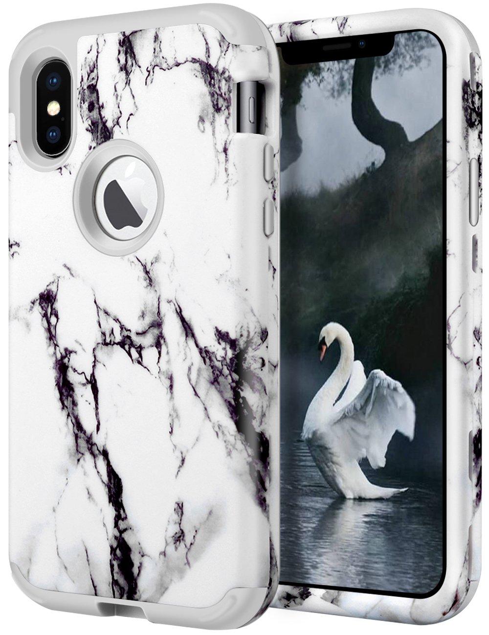 iPhone 6 / 6s財布型ケース、cheeringaryクレジットカード現金スロットIDホルダーカバーハイブリッドデュアルレイヤスリムソフトTPU耐衝撃とハードバンパー傷防止シェルfor Apple iPhone 6 / 6s ( 4.7インチ) iPhone X ホワイト B076KLBBDD iPhone X|iPhone X-6 White iPhone X-6 White iPhone X