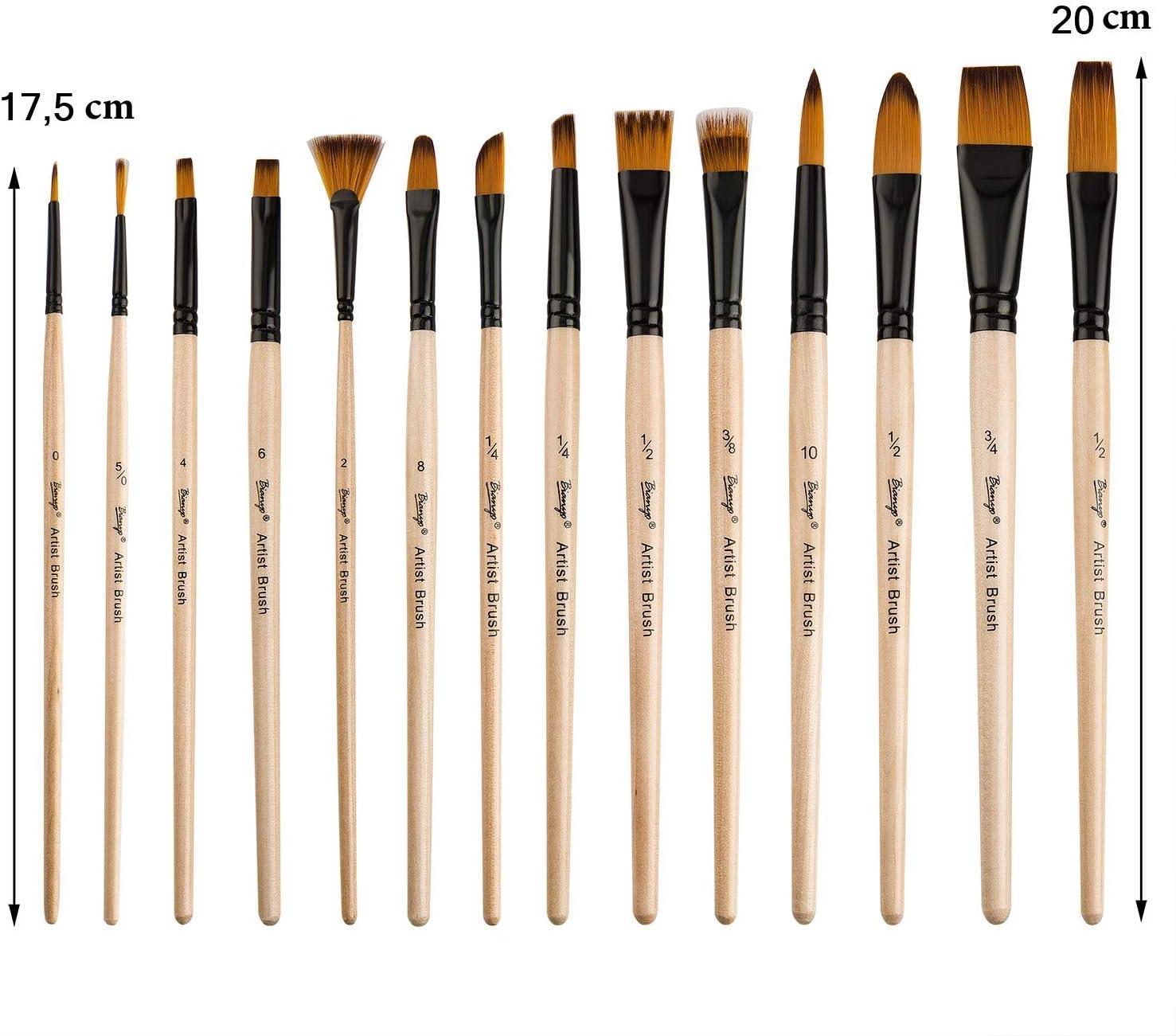 OUTANG pinceaux Peinture Acrylique Pinceau aquarelles Visage pinceaux Petite Peinture brosses Pinceau Peinture brosses de d/écoration Acrylique pinceaux