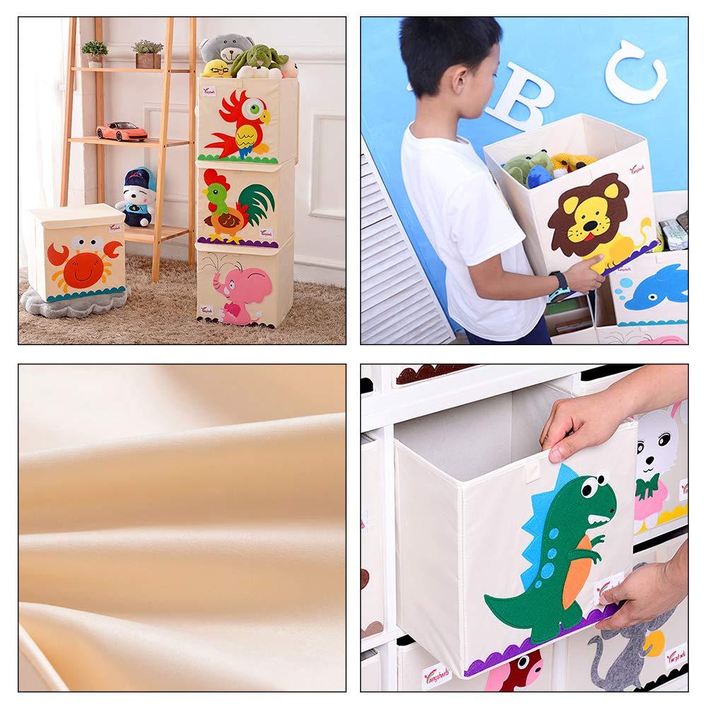organizzatore di Giocattoli per Cartoni Animati Pieghevole di Grande capacit/à per la Camera dei Bambini Naduew Scatola portagiochi