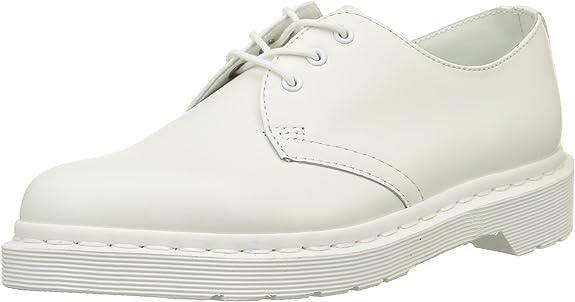 Dr. Martens1461 Mono Smooth White - Zapatos de Cordones Unisex Adulto