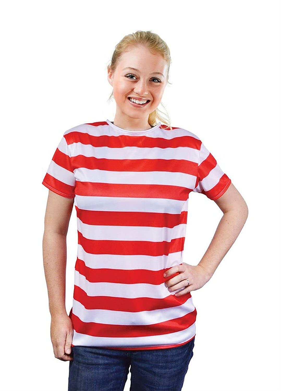Amazon.com: Red & White Striped T-Shirt: Clothing
