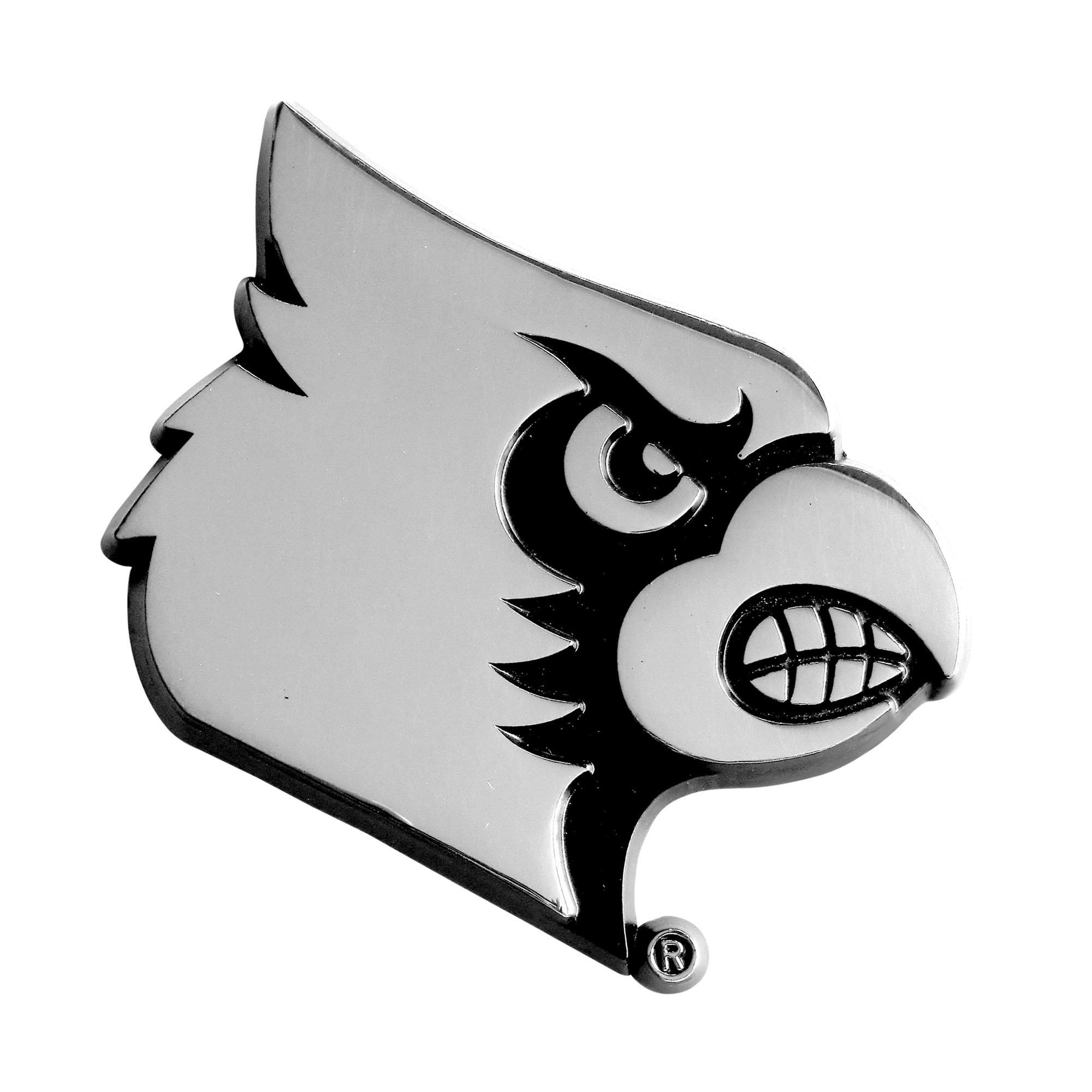 FANMATS NCAA University of Louisville Cardinals Chrome Team Emblem